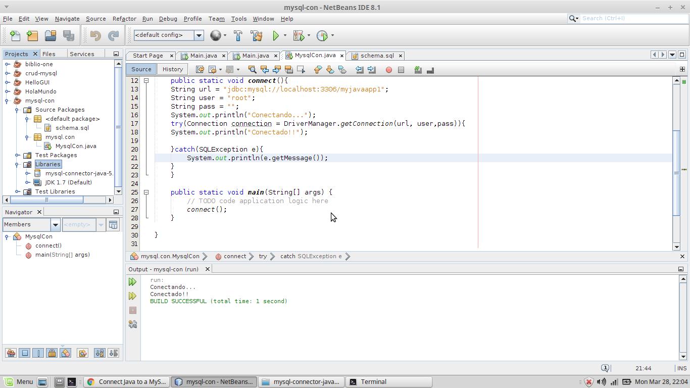 codigo php conexion base datos mysql