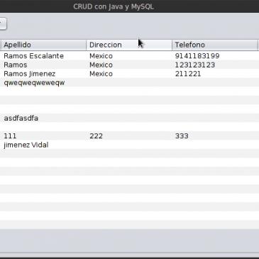 CRUD no tan facil con Java y MySQL