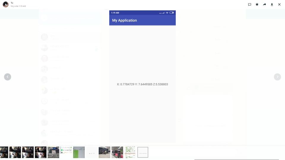 Leer Los Valores X,Y,Z Del Acelerometro De Android Con